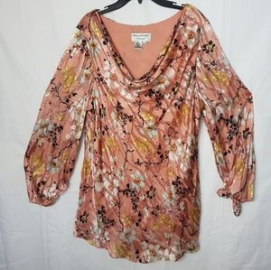 Rose Long-sleeve Blouse with beads